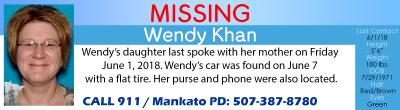 MissingInMNBanner Wendy Khan