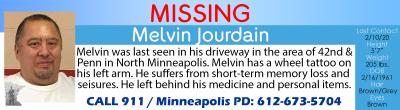 MissingInMNBanner Melvin Jourdain